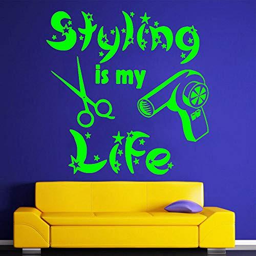 Stilista è la mia vita adesivi murali citazioni soggiorno decorazioni per la casa capelli adesivi murali in vinile per salone di bellezza negozio autoadesivo colore-1-9 42x42 cm