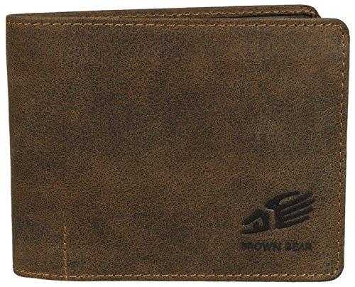 Brown Bear Geldbörse Herren Leder braun vintage 1051 br