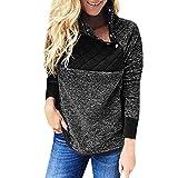 Flanell Hemdoberteile Damen,Elecenty Frauen Sportshirt Sweatshirts Elegant Herbst Patchwork Langarmshirt Streetwear Sweater Tunic Pullover Outerwear Oberteile