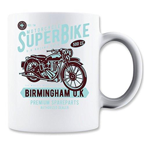 Super Bike Motorcycle UK racing Club Birmingham Premium Spareparts Klassische Teetasse Kaffeetasse (Low Premium-skate)