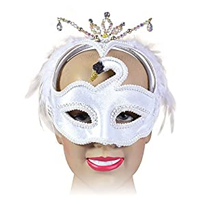 White Feather Swan Mask Masquerade Fancy Dress (máscara/careta)
