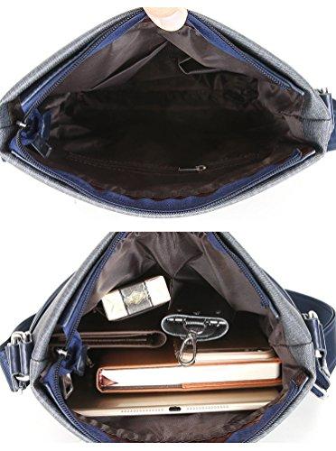 YOUJIA Herren Freizeit Umhängetasche Messenger Crossbody Tasche für Reisen Outdoor Schulschultasche (Blau) Blau