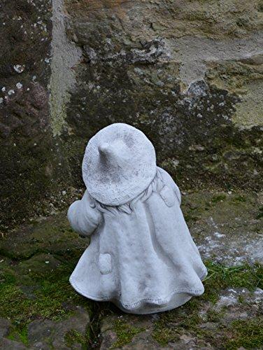 Lustige Hexe mit Kochtopf aus Steinguss, frostfest - 4