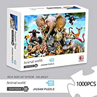 Tobeape® 1000 Piece Jigsaw Puzzle for Adults and Kids elephant Puzzle Family Interactive Games 30 x 20 inch