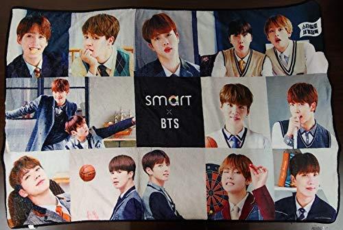 BTS x SMART Manta oficial conjunto matasellos Blanco