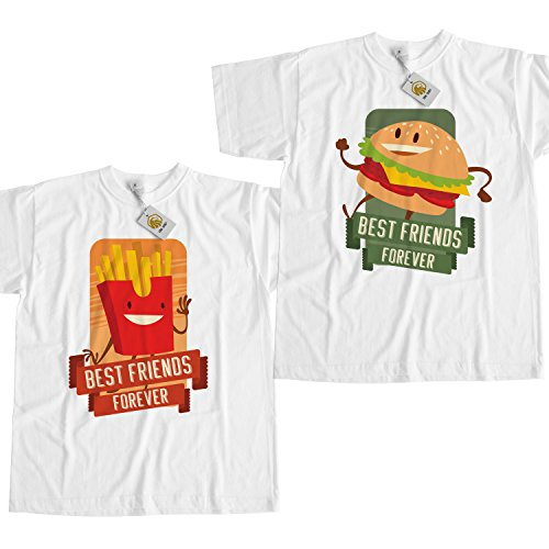 best-friends-forever-shirt-burger-and-fries-maglietta-unisex-white-best-friends-outfit-unisex-style