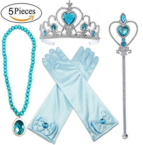 Alead Prinzessin Verkleiden Sich Elsa Blau 4 Stück Geschenk-Set ()