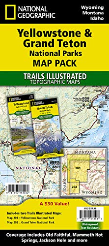 Yellowstone/grand Teton National Parks, Map Pack Bundle: Trails Illustrated National Parks (National Geographic Trails Illustrated Topographic Map) -