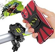 Cocoda Handyhalterung Fahrrad, Abnehmbare Motorrad Handyhalterung für 4,7-7,5 Zoll Handys, 360° Verstellbare A