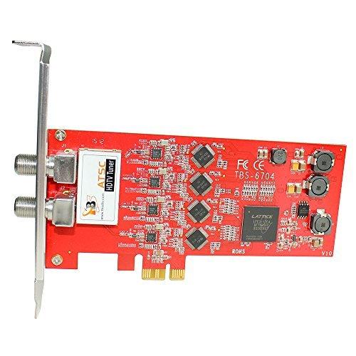 TBS6704 PCIe Quad sintonizador ATSC - Clear QAM - 8VSB - 4 sintonizador de televisión de alta definición - - - ATSC/ Clear QAM / 8VSB Quad Tuner PCIe Card