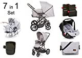 ABC Design Kinderwagen 3 in 1 Set Circle Merano Air 7 in 1 (grau)