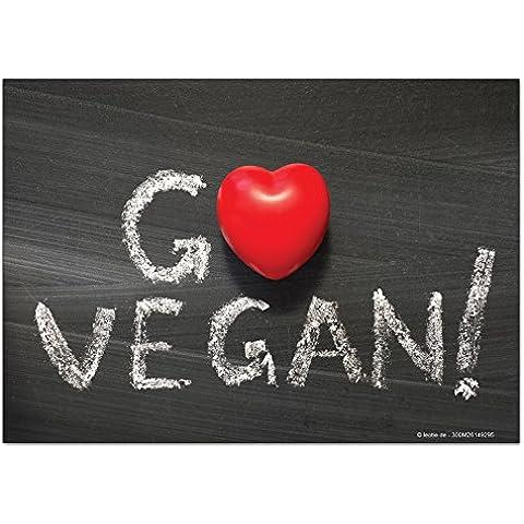 Magneti Calamite frigorifero Divertimento Diventare vegan