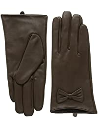 New Look Leather Bow-Guantes Mujer