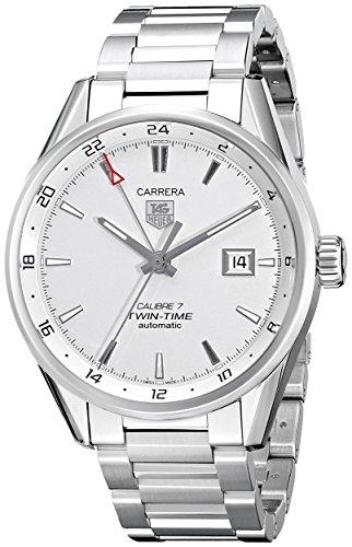 TAG-Heuer-Mens-Steel-Bracelet-Case-Sapphire-Crystal-Automatic-Silver-Tone-Dial-Watch-WAR2011BA0723
