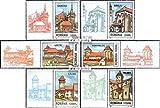 Rumänien 5649-5654 mit Zierfeld (kompl.Ausg.) 2002 Kirchenburgen in Siebenbürgen (Briefmarken für Sammler)