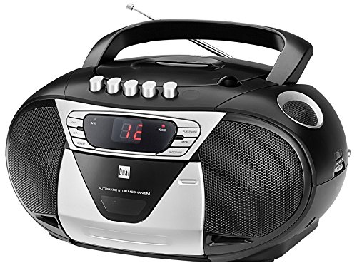 Radio-de-cd (Dual P 65 Schwarz Portable Boombox (UKW-Radio, CD-Player, Kassettenabspieler, AUX-In Audioeingang) schwarz)