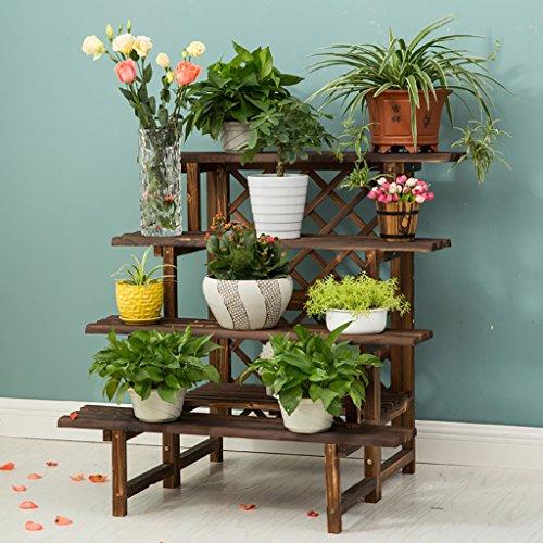 Porte-fleurs Échelles racking jardin intérieur Herbal Pots Showcase bambou pliant (plusieurs options de taille) porte plante ( Couleur : 4 layers 90cm long )