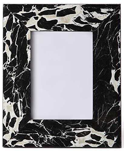 Carla Carstens Schwarz & Weiß Marmor 5x 7Bilderrahmen | Kunststoff-Acryl Wildleder Glas | Tabletop Desktop Foto | Hochzeit Persönlichen Personalisierte | -