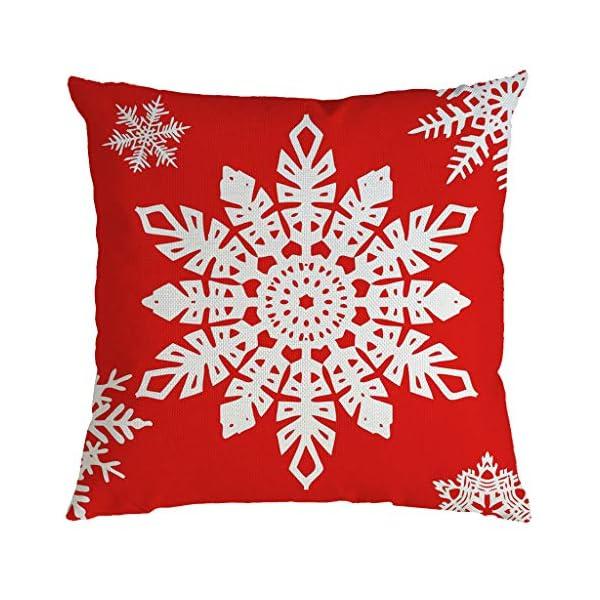 IJKLMNOP Christmas Pillow Square Pillow Case Lino Mat 45x45cm es Adecuado para oficinas, Casas, automóviles, cafeterías… 16
