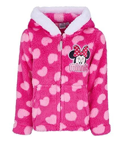 Disney Minnie Coral Fleece Jacke, Fuchsia (116/6 Jahre) Disney Fleece-sweatshirt