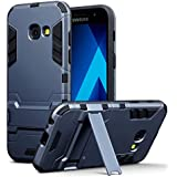 Galaxy A3 2017 Tasche, Terrapin Silikon + Polycarbonat Hülle mit Standfunktion für Samsung Galaxy A3 2017 Hülle Dunkelblau