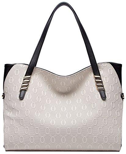BOYATU Leder Handtaschen für Damenmode Damen Totes Große Schultertaschen -