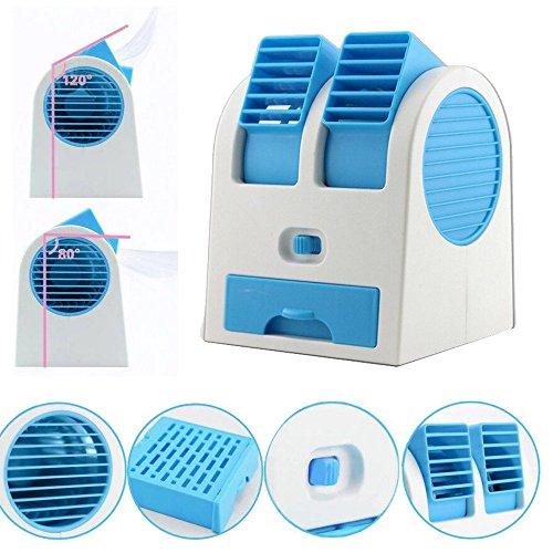 Luckhome - Ventilador de Perfume de Doble Puerto USB con batería de Doble Uso, portátil, Mini Ventilador...