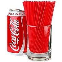 Sip Straws 5inch Red - Box of 1000 | 3mm Cocktail Straws