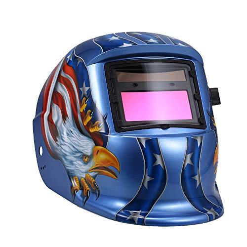 KKmoon Automatischer Verdunkelungshelm Schweißmaske Auto Schweißschild MIG TIG ARC Schweißschutzkappe mit Verstellbarem Kopfband