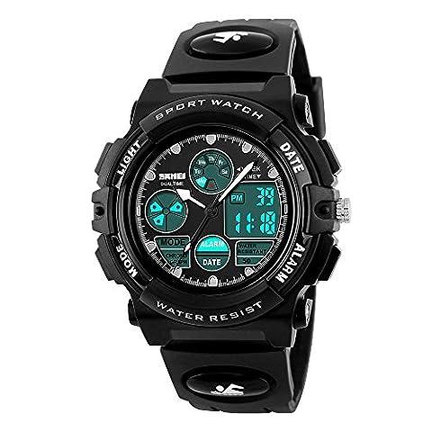 1163pour homme Étanche Mode à quartz Digital chocs Montre-bracelet