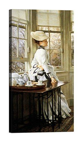 DìMò ART Leinwanddruck James Tissot Reading the News (detail) Größe 200x100 CM