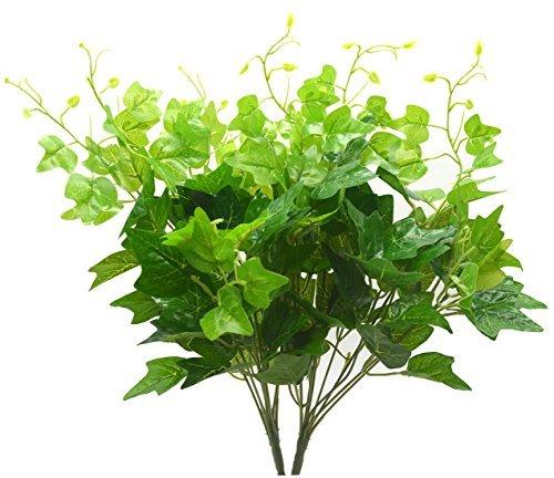 Bird Fiy seda hojas de hiedra artificial ramo de simulación de vegetación...
