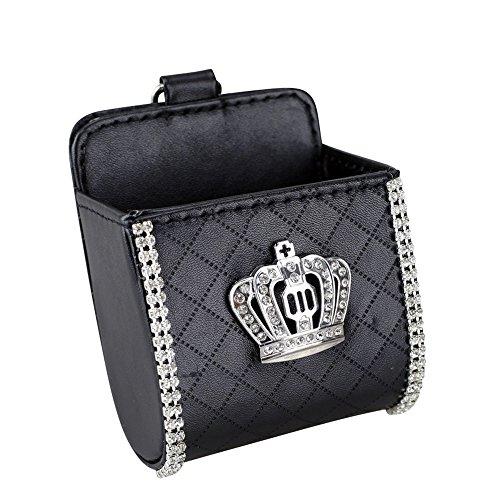 Miss Bling Auto-Luftschlitz-Aufbewahrungstasche für Kleinteile, Handy-Box, Münzkarte, Schlüssel, Brillen, Tasche, Aufbewahrungstasche mit Haken