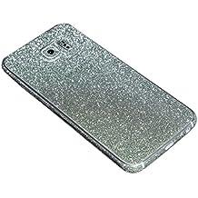 Para Samsung Galaxy, FAS1 Online con adhesivo brillo chispeante cuerpo película caso, verde, S6 Edge+ G9280
