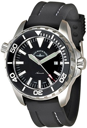 Zeno Watch Basel Reloj para Hombre Analógico Automático con Brazalete de Silicona 6603-a1
