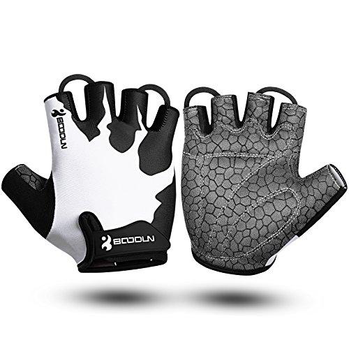 BOODUN Half Finger Cycling Padded Gloves Breathable Fingerless Bike With Anti Slip Grip