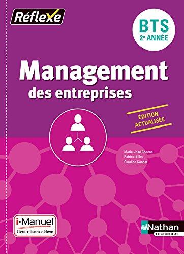 Management des entreprises - BTS 2ème année - Collection Réflexe par Marie-José Chacon