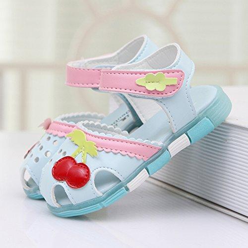 Scothen Bébés filles Sandales chaussures à lanières d'été décontractée sandales chaussures plage sandales romaines chaussures de princesse flip-flop Walker sandales chaussures espadrilles de ballerine Bleu