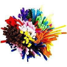 Limpiapipas para manualidades multicolores Limpiapipas de chenilla alambre 360pieza flexible de peluche en 10colores nuevo 60pieza de ellos con en la oscuridad Colores Vivos (fluorescente) como decoración vivos 30cm de largo 6mm de grosor.