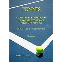 TENNIS: Palmares et statistiques des quatre tournois du Grand Chelem Simples Dames et Simples Messieurs Edition 2015 (French Edition)