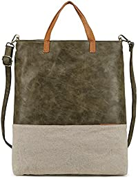 Tote Bag For Women Large Purses And Handbags Pu Leather Crossbody Satchel Bags With Shoulder Strap (Military Green...