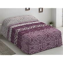 Camatex - Conforter Catalina Cama 135 - Color Malva (edredón de Acolchado Grueso época de
