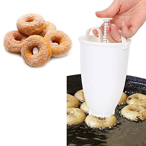 Chisbbu - Gofrera árabe fácil de Transportar, de plástico Ligero, Manual, dispensador de gofres, Forma de Donut