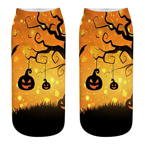 Frauen Kostüm Einfache Cat - Halloween Socken Fledermaus Kürbisse Hexe Ghost Cat Short Socks für Halloween Party Dress Up Kostüm