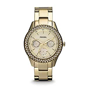 Fossil End of Season Analog Gold Dial Women's Watch - ES3101