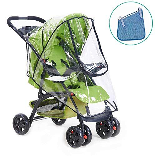 HULISEN Bebé Cochecito Cubierta Universal Para Lluvia Impermeable, Polvo Viento Shield Cochecito Accesorios