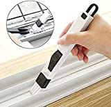 SwirlColor 2 in1 Window Slots Brush, Gap with Dustpan Brush, Cleaning Tools Screen Window, Keyboard Brush -1 piece (Type 1)