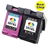 AideMeng Remanufactured pour HP 301 XL Cartouches d'encre (1 Noir, 1 Tri-couleur)...