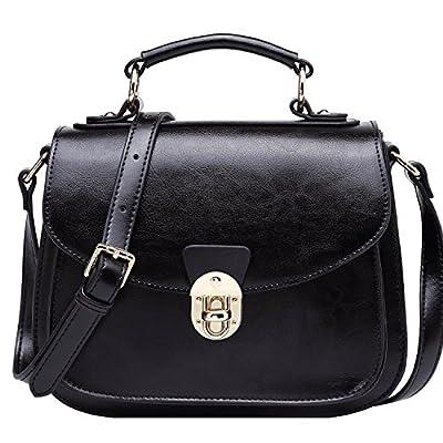 BOYATU Sac à main en cuir sac à main pour les femmes Vintage sac à bandoulière poignée supérieure sacoche