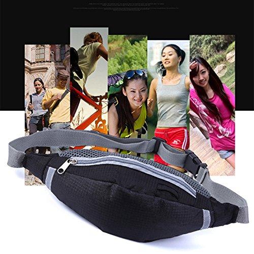 EQLEF® Multi-funcional del deporte del bolsillo de la cintura bolsa de Ejecución de bolsos de la cámara cintura del recorrido la correa del bolso